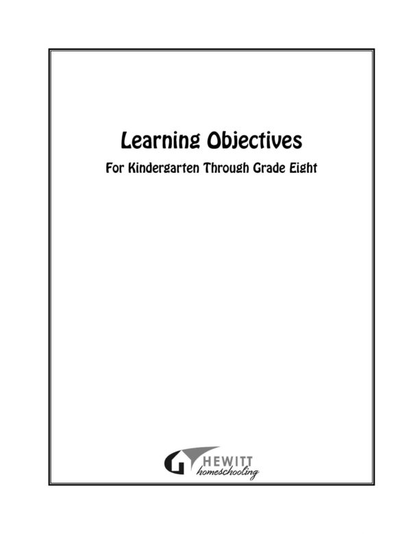 Learning Objectives for Grades K-8 PDF